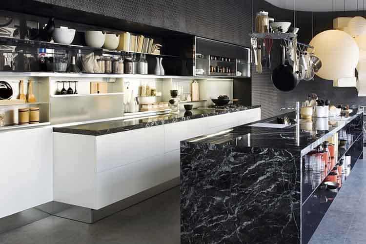 Chique keuken donker marmer