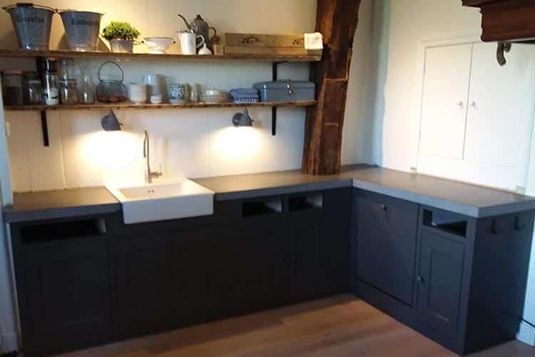Industriële keuken composiet Concrete Dark