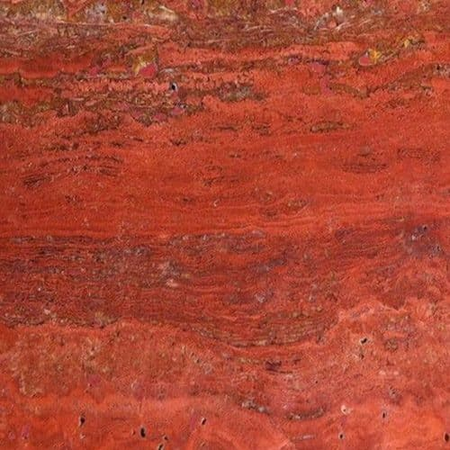 Travertine Travertino Rosso Gepolijst