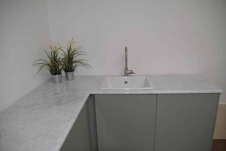 Botanische keuken marmer Bianco Carrara