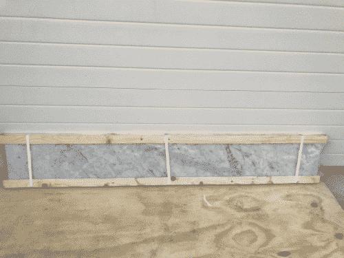 Marmer Bianco Carrara Polished 204 x 28 x 2 cm massief