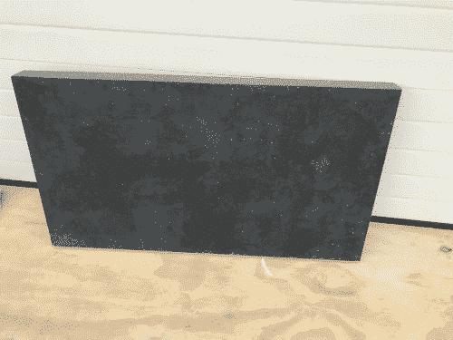 Belgisch Hardsteen gezoet 120,5 x 67 x 8 cm.