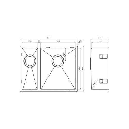 Lorreine-1534R-afmetingen
