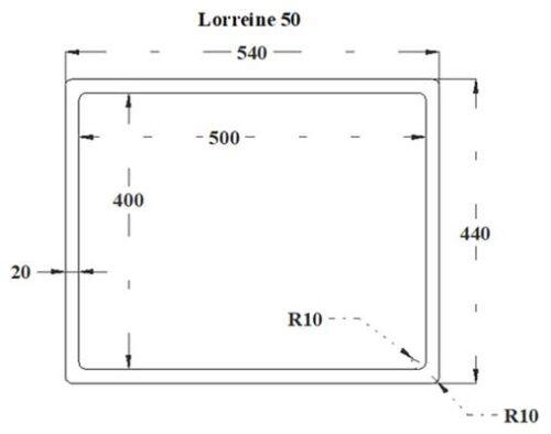 Lorreine-50R-CLR-Black-afmetingen