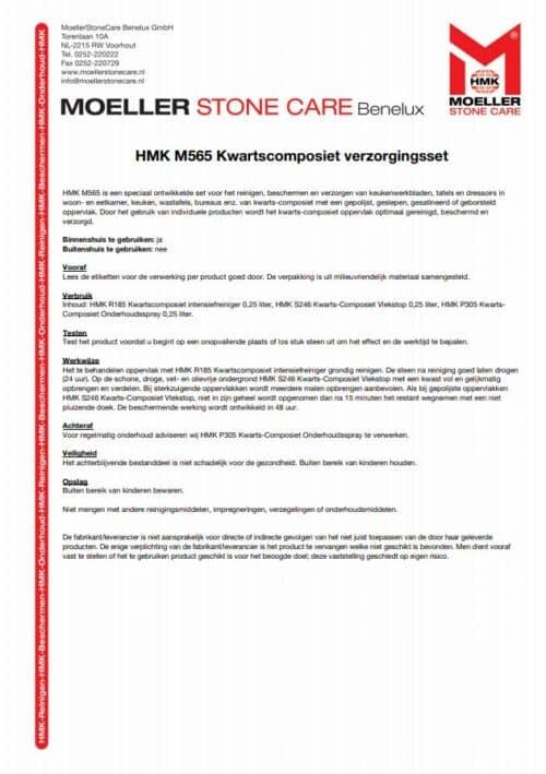 Gebruiksaanwijzing-Kwarts-Composiet-Onderhoudsset